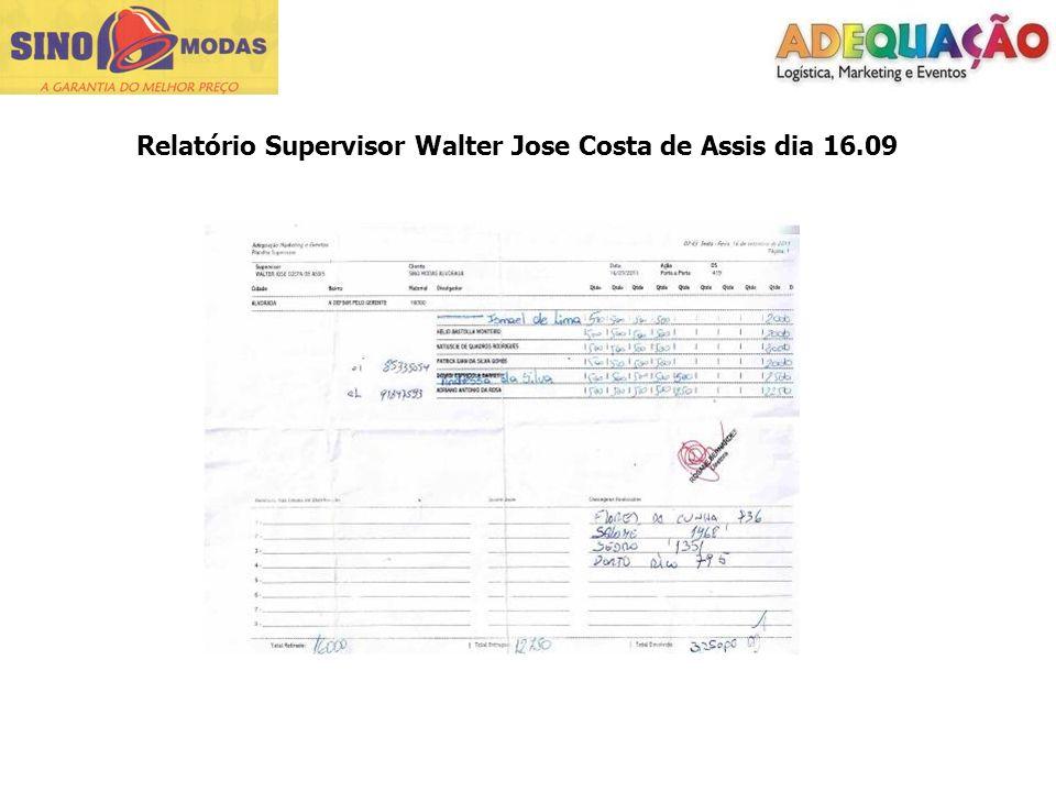 Relatório Supervisor Walter Jose Costa de Assis dia 16.09