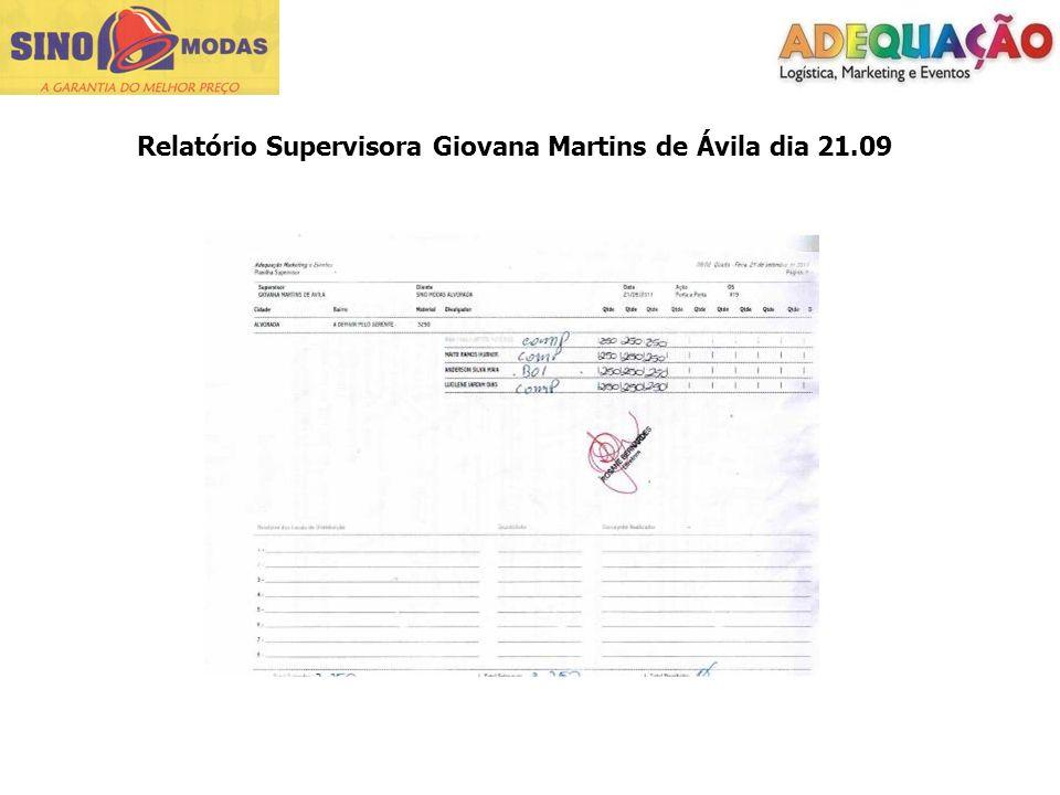 Relatório Supervisora Giovana Martins de Ávila dia 21.09