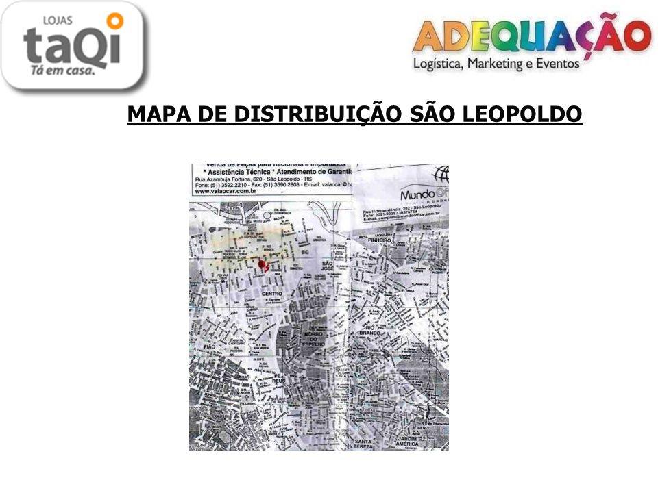 MAPA DE DISTRIBUIÇÃO SÃO LEOPOLDO