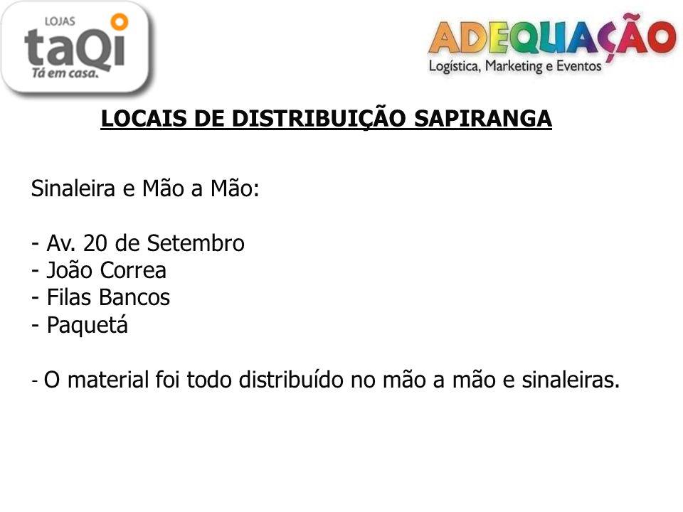LOCAIS DE DISTRIBUIÇÃO SAPIRANGA