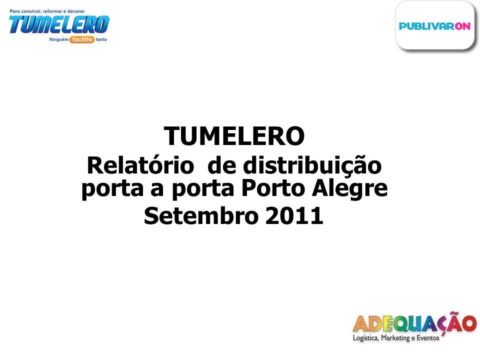 Relatório de distribuição porta a porta Porto Alegre