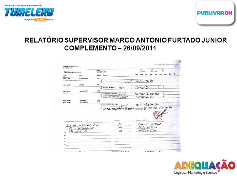 RELATÓRIO SUPERVISOR MARCO ANTONIO FURTADO JUNIOR