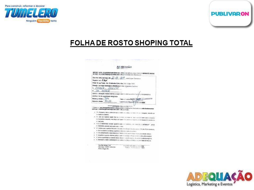 FOLHA DE ROSTO SHOPING TOTAL