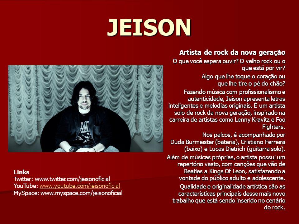 JEISON Artista de rock da nova geração