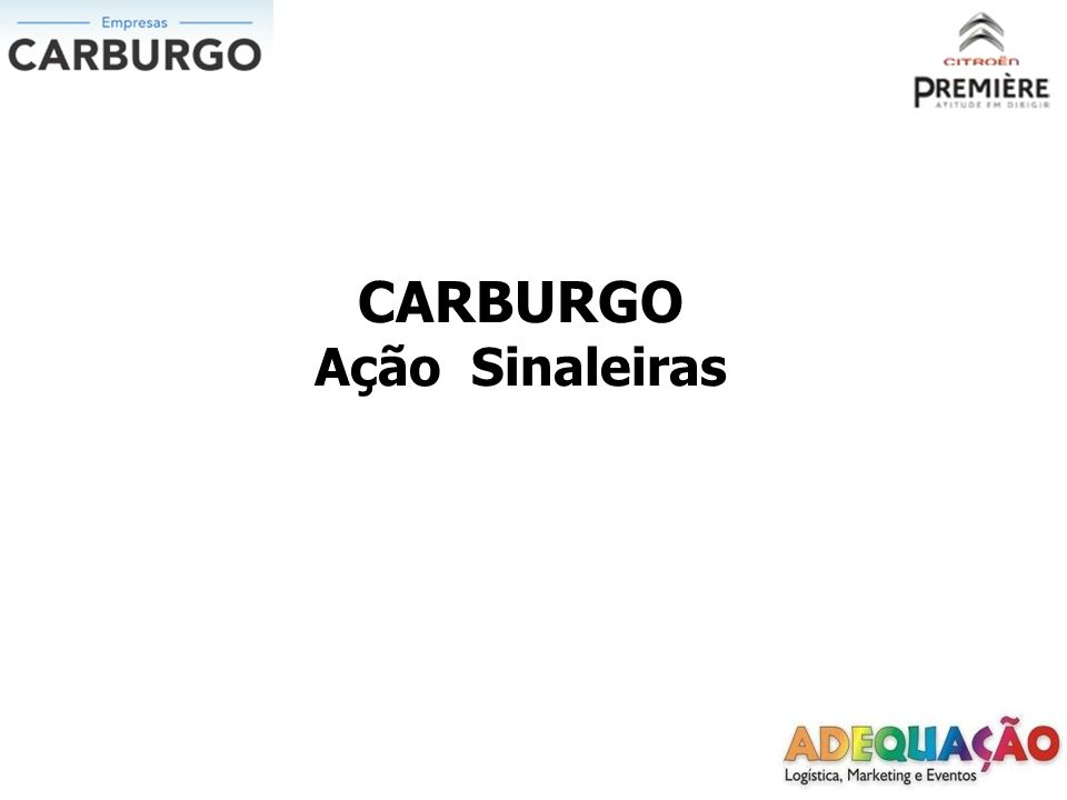 CARBURGO Ação Sinaleiras