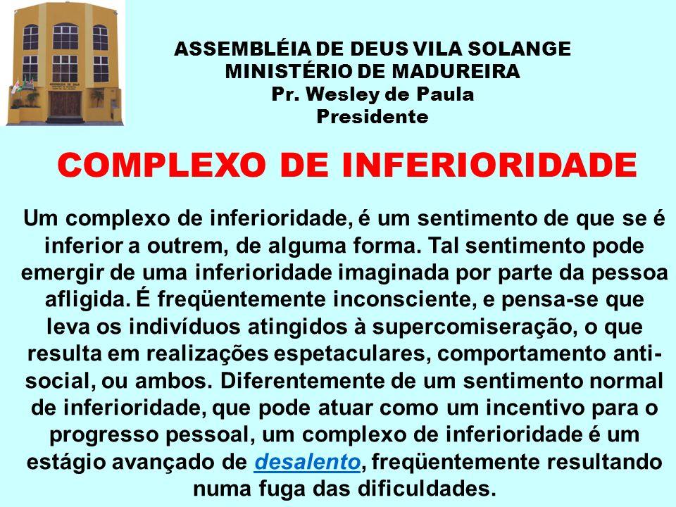 COMPLEXO DE INFERIORIDADE