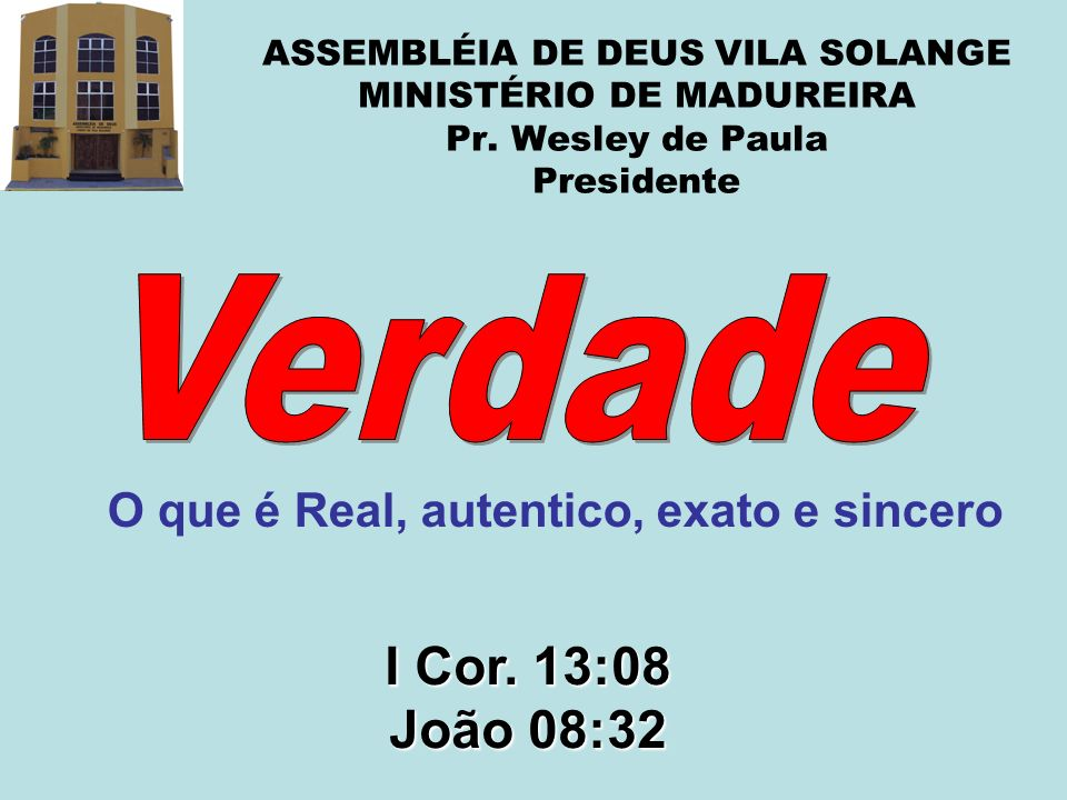 ASSEMBLÉIA DE DEUS VILA SOLANGE MINISTÉRIO DE MADUREIRA Pr