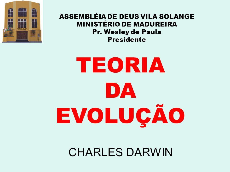 TEORIA DA EVOLUÇÃO CHARLES DARWIN