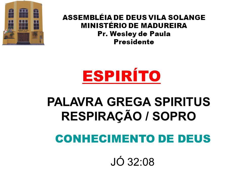 PALAVRA GREGA SPIRITUS