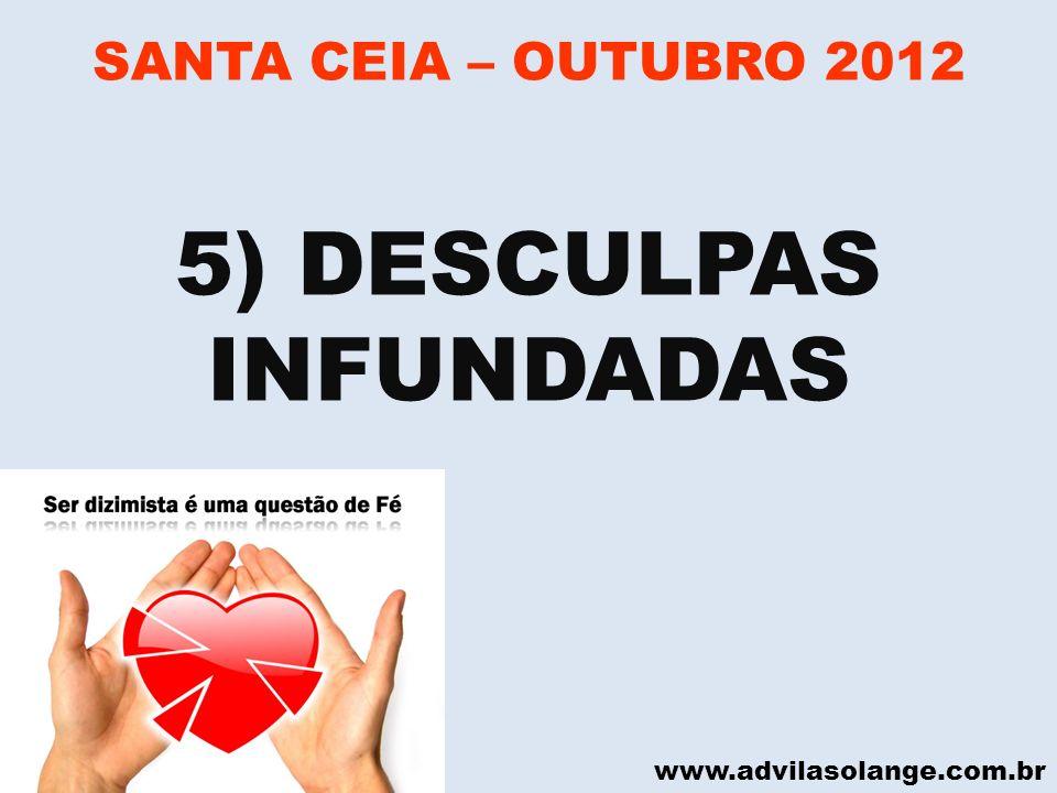 5) DESCULPAS INFUNDADAS
