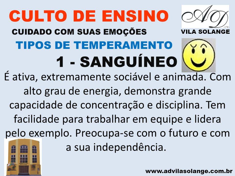 CULTO DE ENSINO 1 - SANGUÍNEO