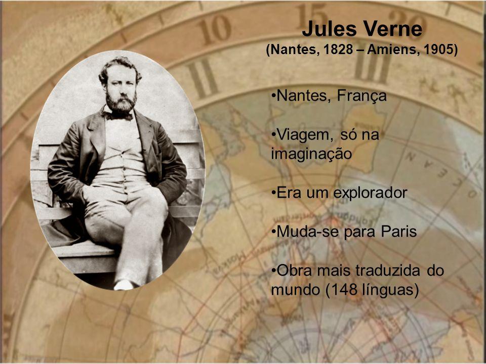 Jules Verne Nantes, França Viagem, só na imaginação Era um explorador
