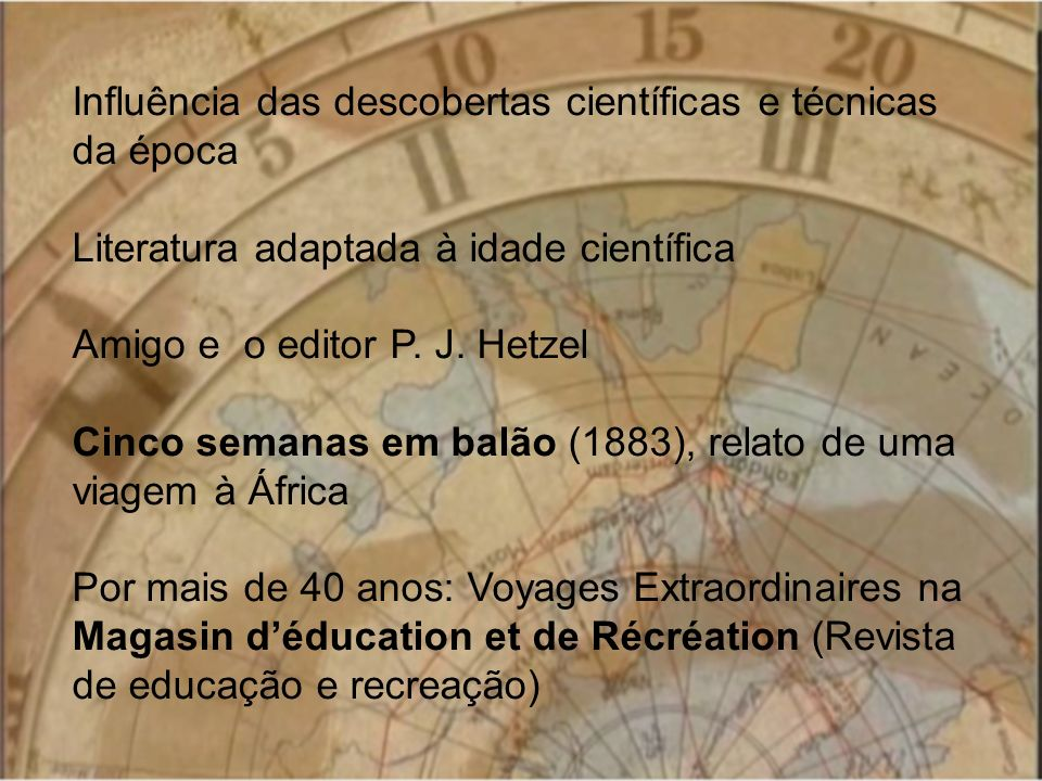 Influência das descobertas científicas e técnicas da época