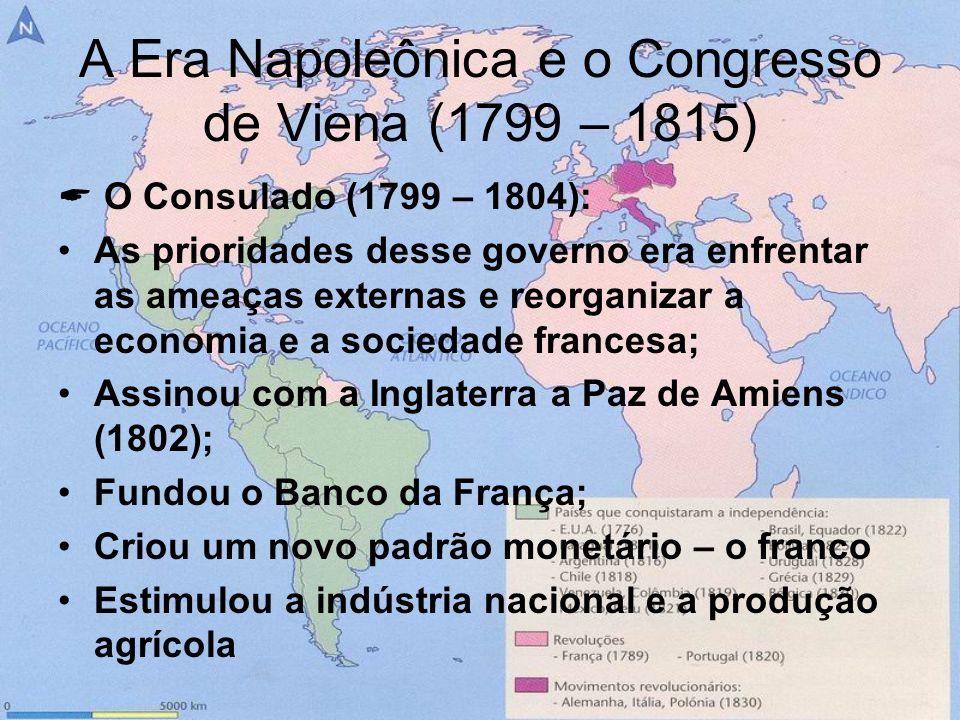 A Era Napoleônica e o Congresso de Viena (1799 – 1815)