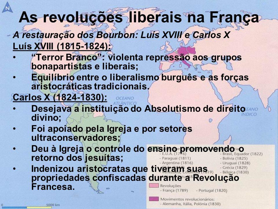 As revoluções liberais na França