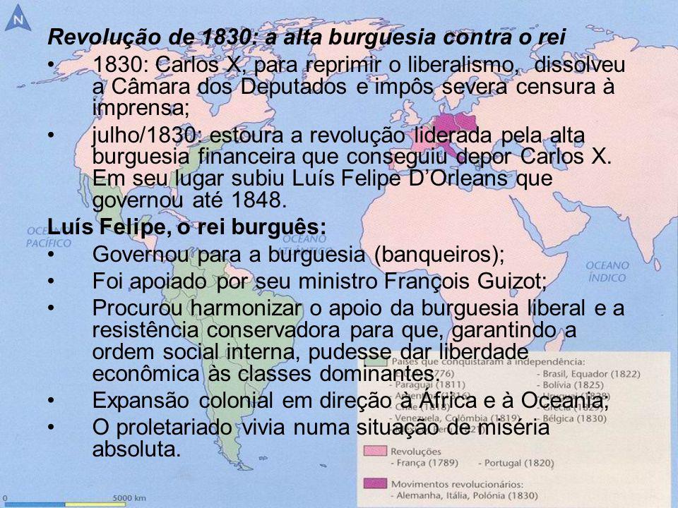 Revolução de 1830: a alta burguesia contra o rei