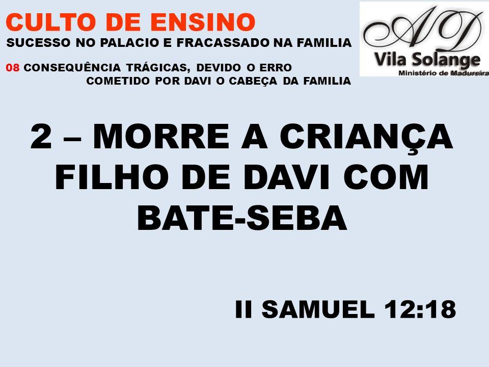 FILHO DE DAVI COM BATE-SEBA