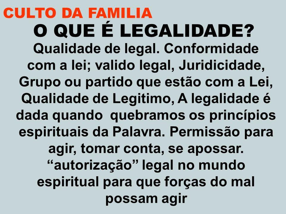 Qualidade de legal. Conformidade