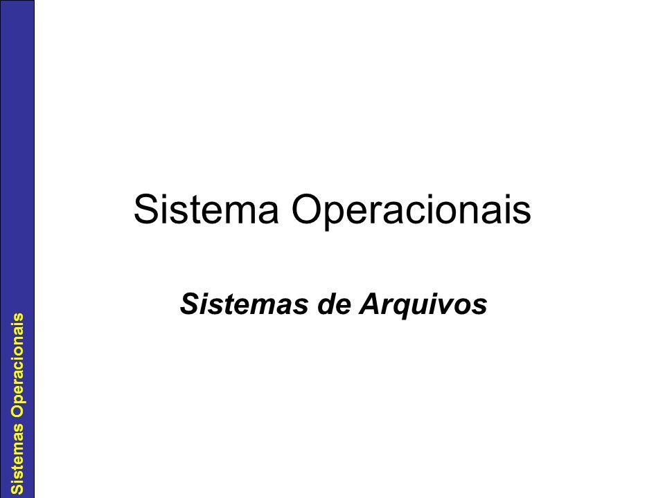 Sistema Operacionais Sistemas de Arquivos