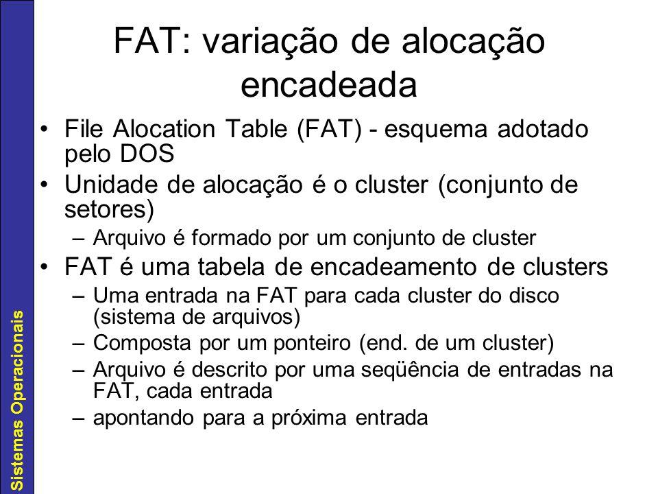 FAT: variação de alocação encadeada