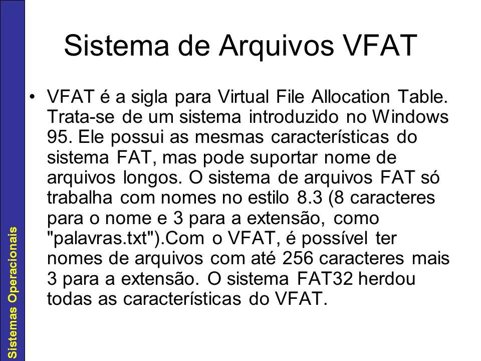 Sistema de Arquivos VFAT