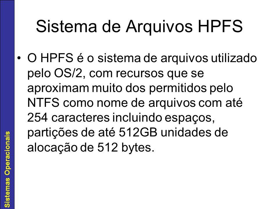 Sistema de Arquivos HPFS