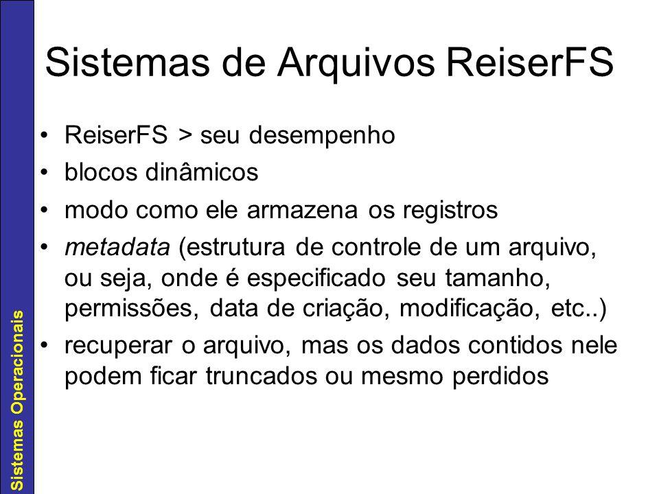 Sistemas de Arquivos ReiserFS