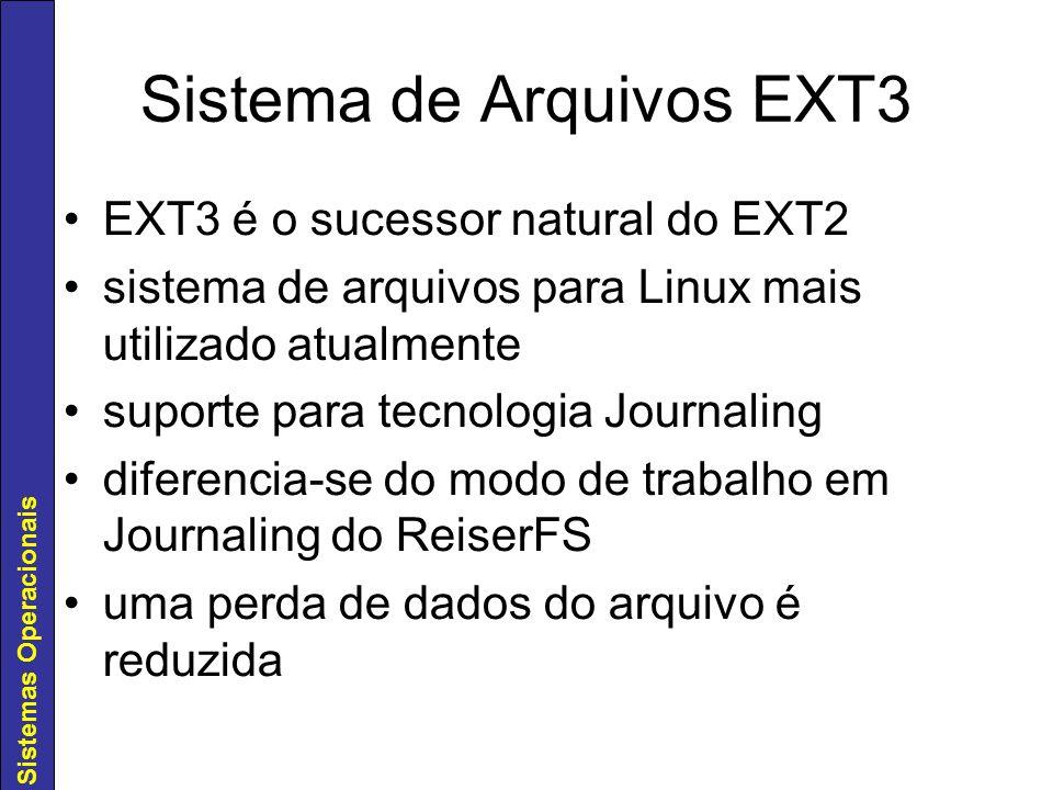 Sistema de Arquivos EXT3