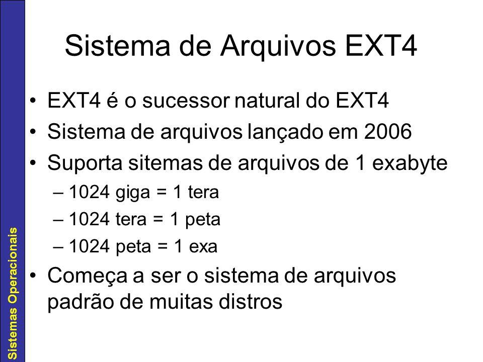 Sistema de Arquivos EXT4