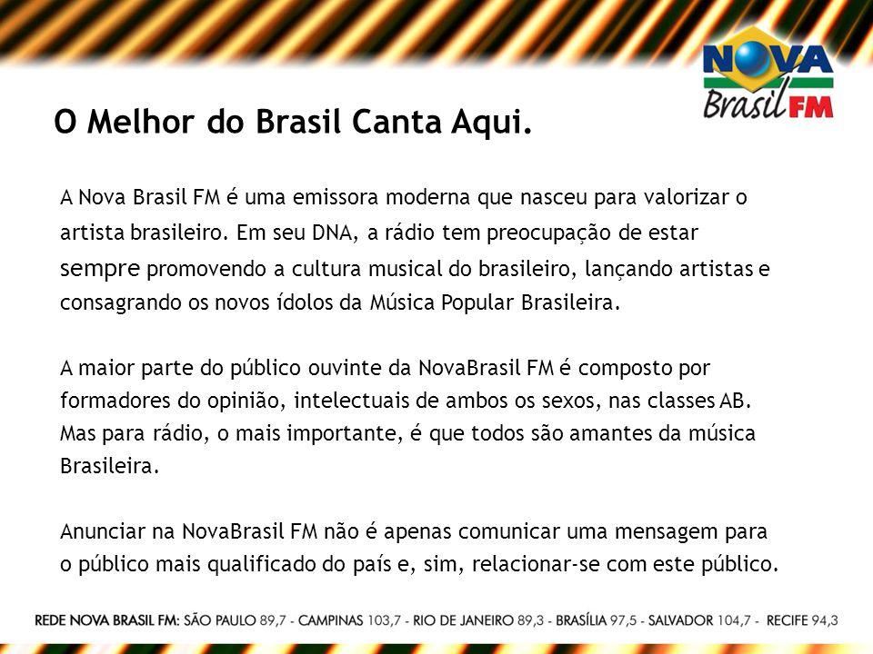 O Melhor do Brasil Canta Aqui.