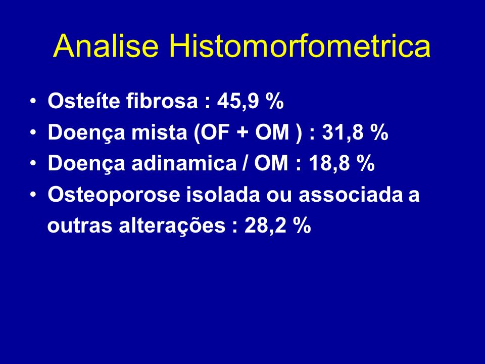 Analise Histomorfometrica