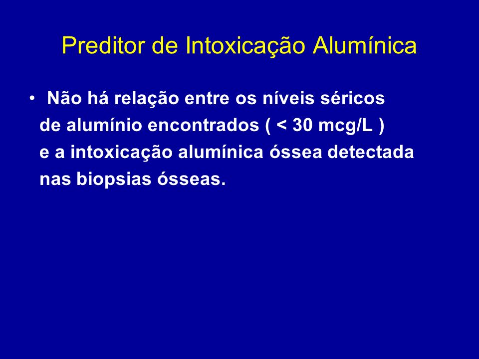 Preditor de Intoxicação Alumínica