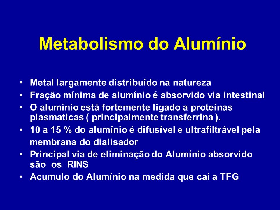 Metabolismo do Alumínio