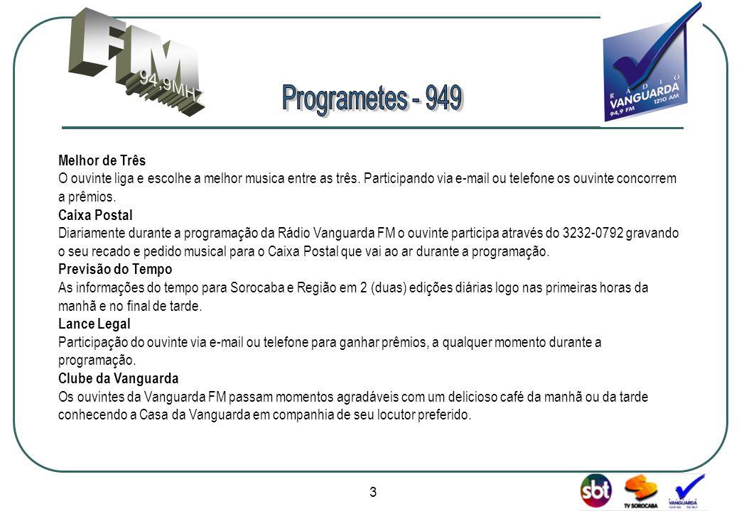 FM 94,9MHZ Programetes - 949 Melhor de Três