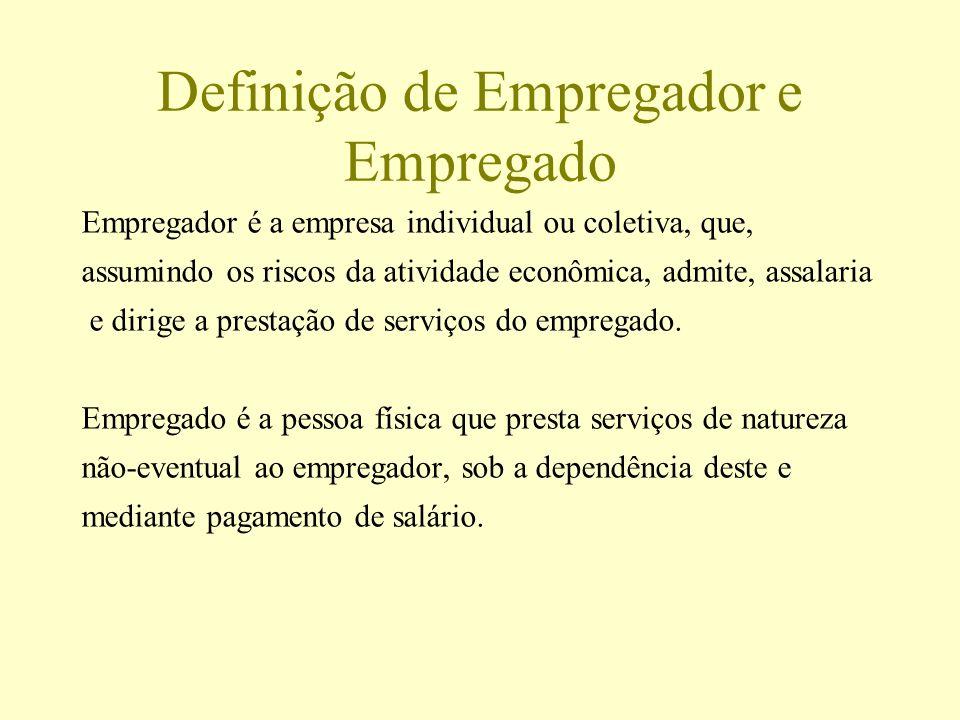 Definição de Empregador e Empregado