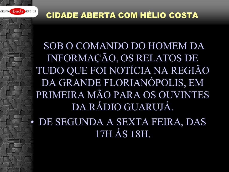 CIDADE ABERTA COM HÉLIO COSTA