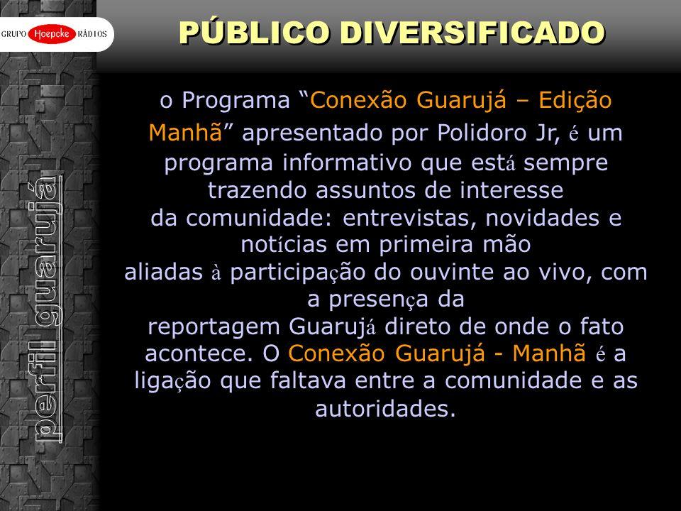 perfil guarujá PÚBLICO DIVERSIFICADO