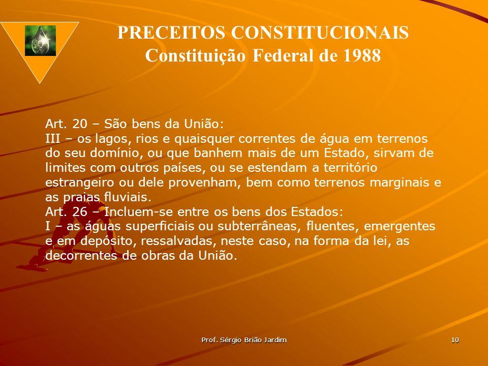 PRECEITOS CONSTITUCIONAIS Constituição Federal de 1988