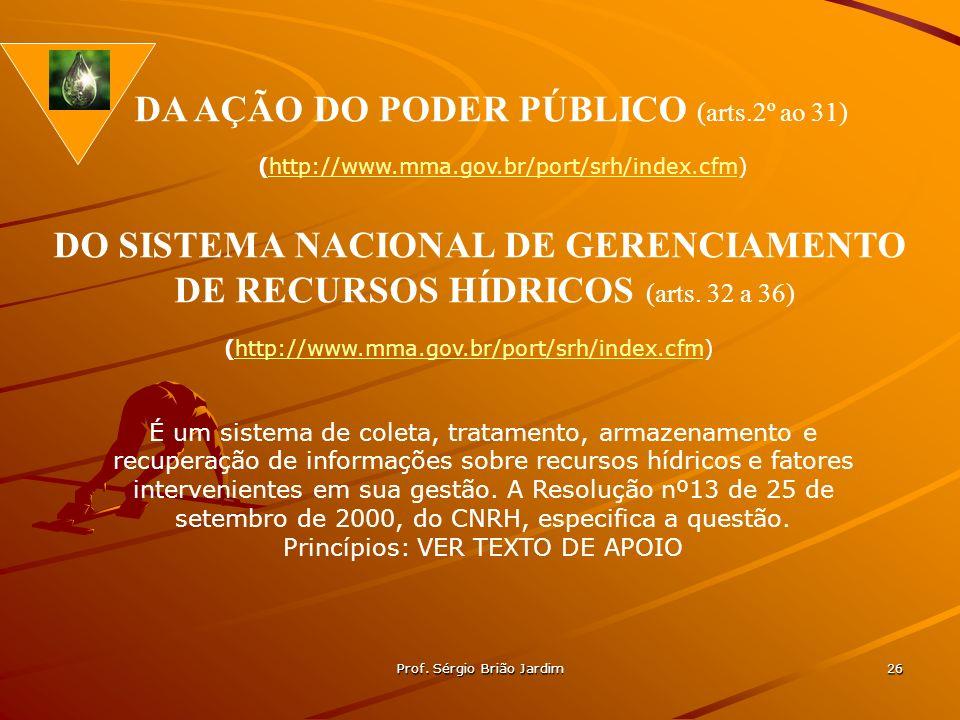 DO SISTEMA NACIONAL DE GERENCIAMENTO