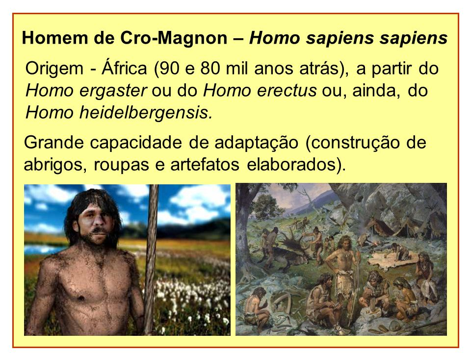 Homem de Cro-Magnon – Homo sapiens sapiens