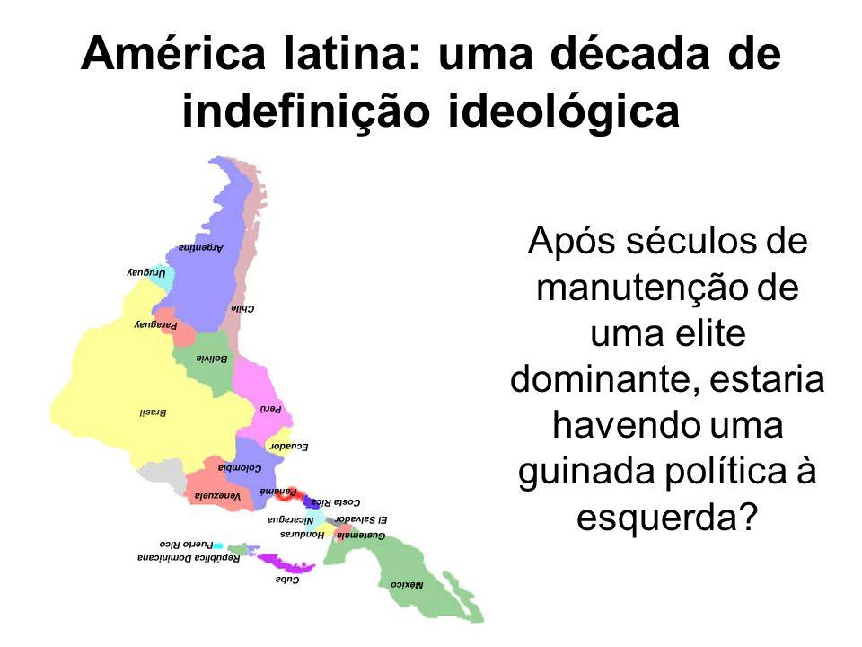 América latina: uma década de indefinição ideológica