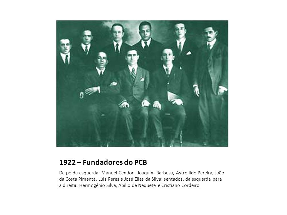 1922 – Fundadores do PCB
