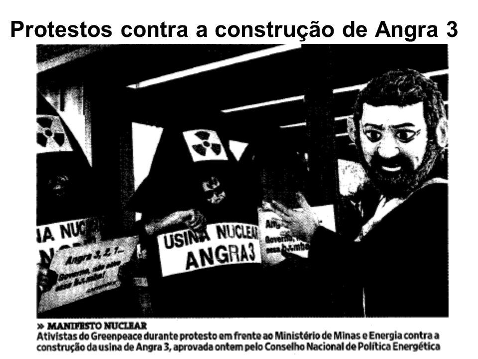 Protestos contra a construção de Angra 3