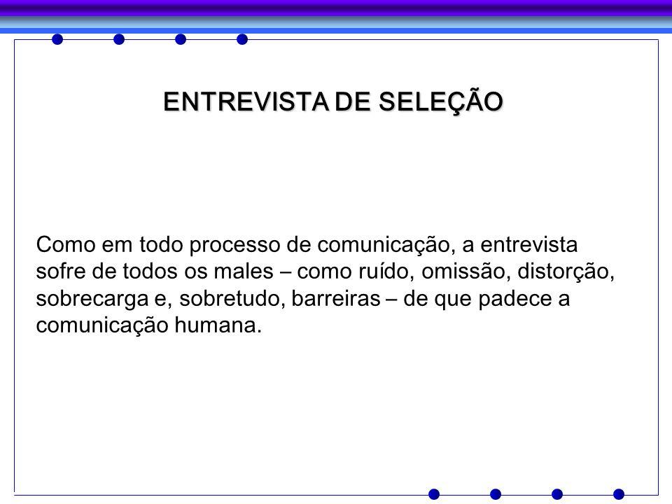 ENTREVISTA DE SELEÇÃO