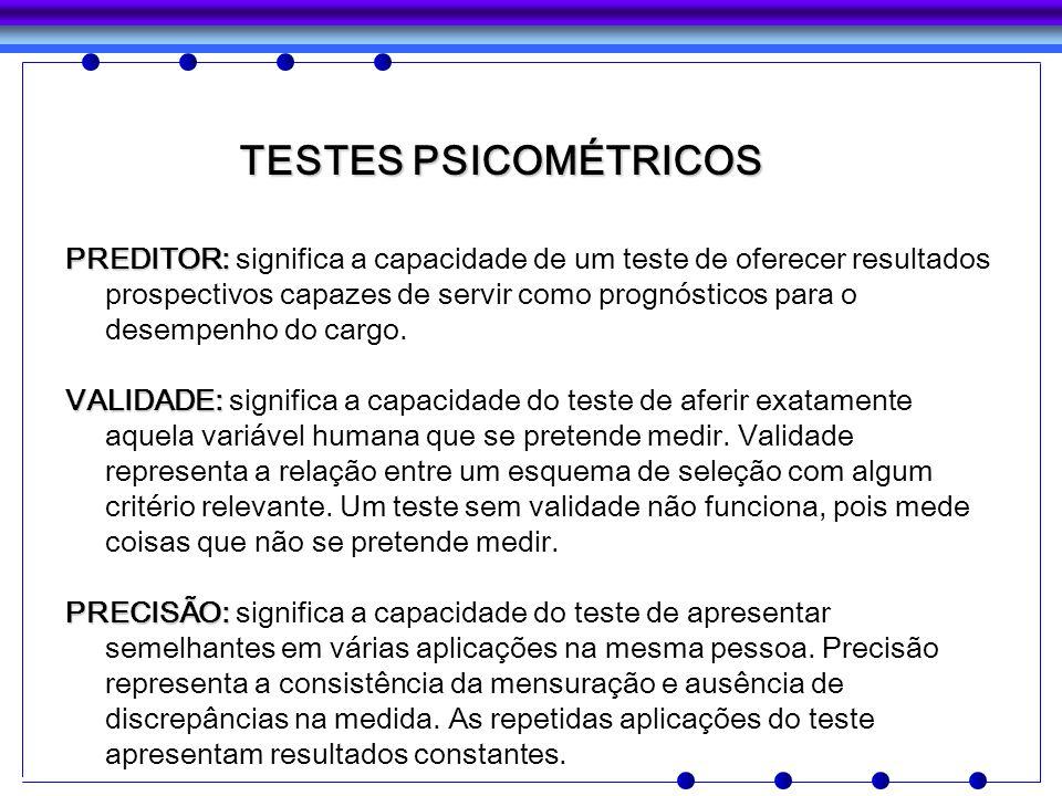 TESTES PSICOMÉTRICOS