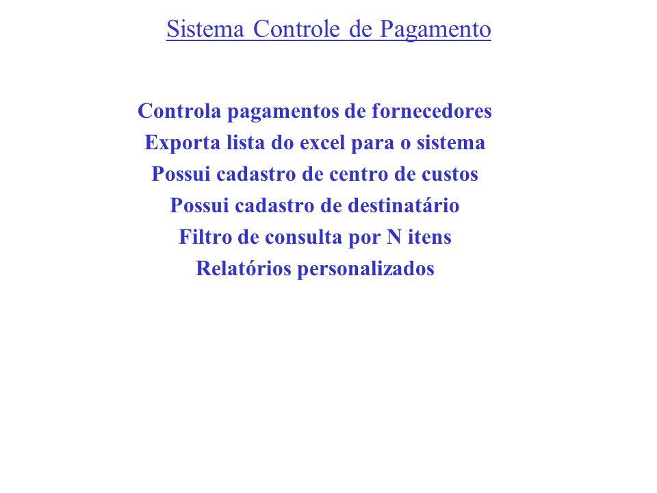 Sistema Controle de Pagamento