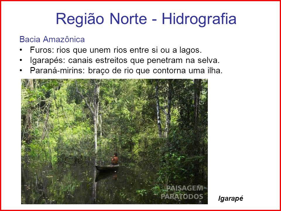 Região Norte - Hidrografia
