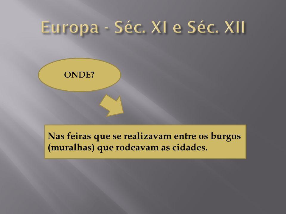 Europa - Séc. XI e Séc. XII ONDE.