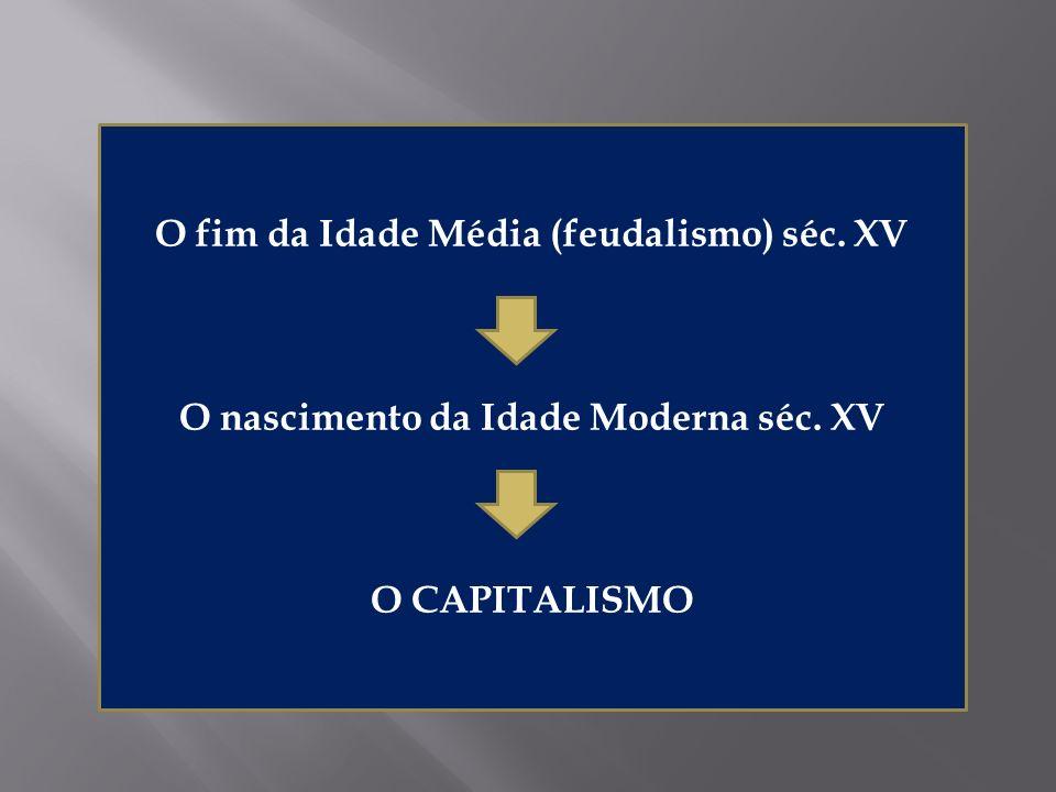 O fim da Idade Média (feudalismo) séc. XV