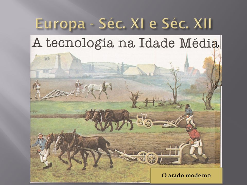 Europa - Séc. XI e Séc. XII O arado moderno
